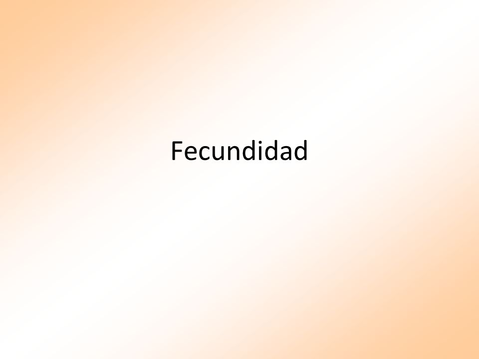 Fecundidad