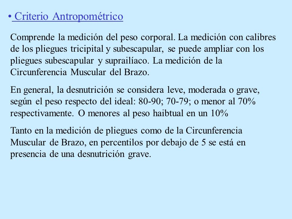Criterio Bioquímico.Albúmina Leve 3,5 a 3gr.