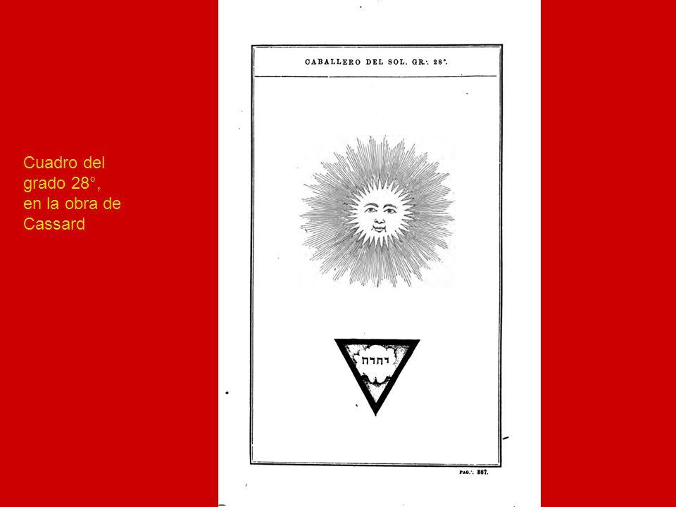 Cuadro del Caballero del Sol en el Rito de Perfección en 25 grados