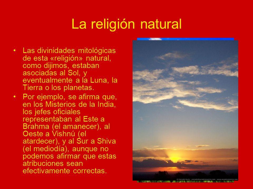 Misterios antiguos y religión Según los Rituales, los Misterios Antiguos no eran exactamente lo mismo que las religiones imperantes en los pueblos que celebraban tales Misterios.
