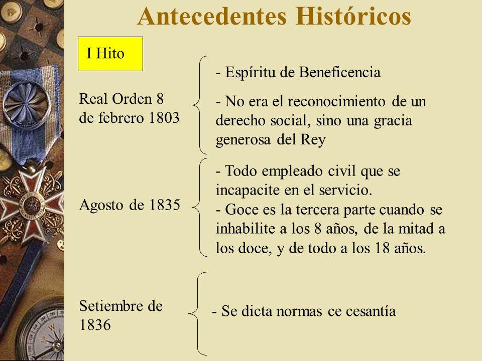 Antecedentes Históricos Real Orden 8 de febrero 1803 - Espíritu de Beneficencia - No era el reconocimiento de un derecho social, sino una gracia gener
