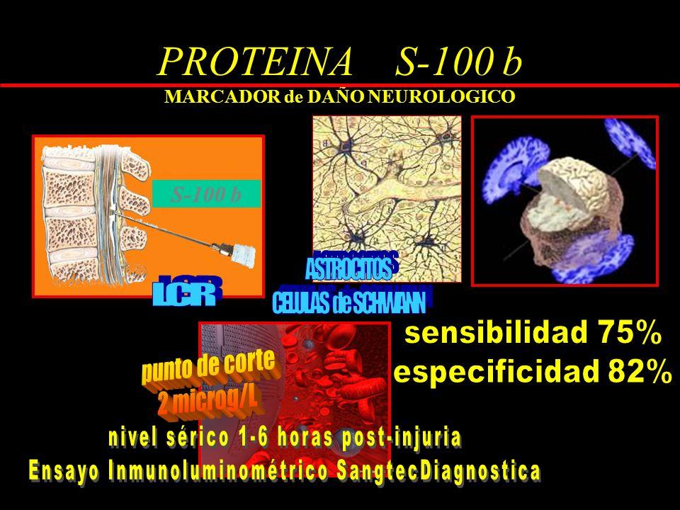 PROTEINA S-100 b MARCADOR de DAÑO NEUROLOGICO S-100 b