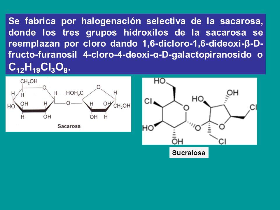 Se fabrica por halogenación selectiva de la sacarosa, donde los tres grupos hidroxilos de la sacarosa se reemplazan por cloro dando 1,6-dicloro-1,6-di