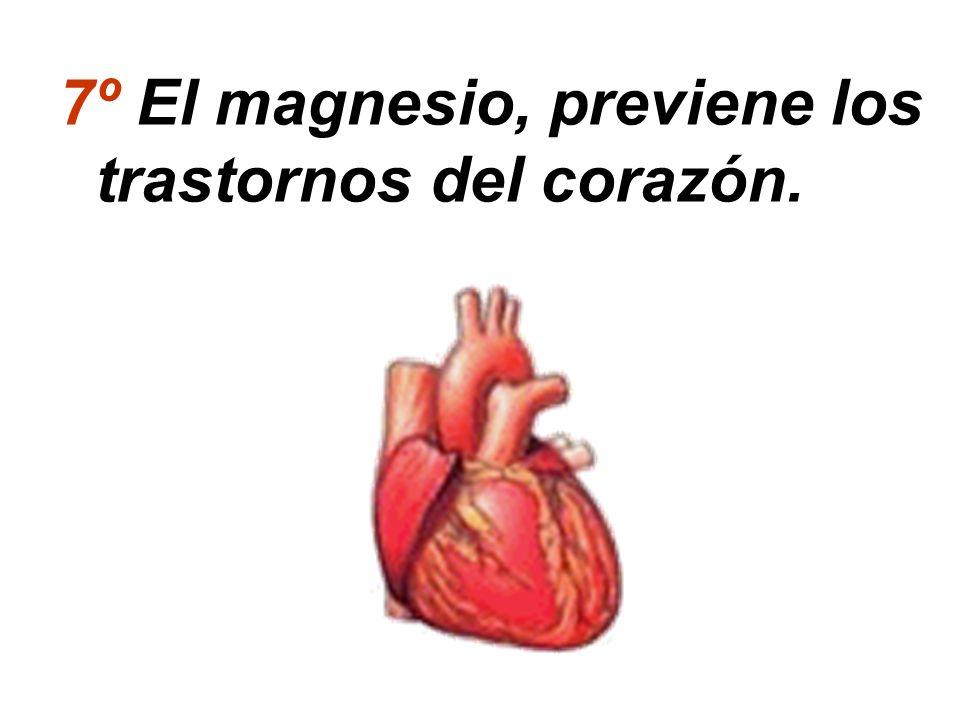 7º El magnesio, previene los trastornos del corazón.