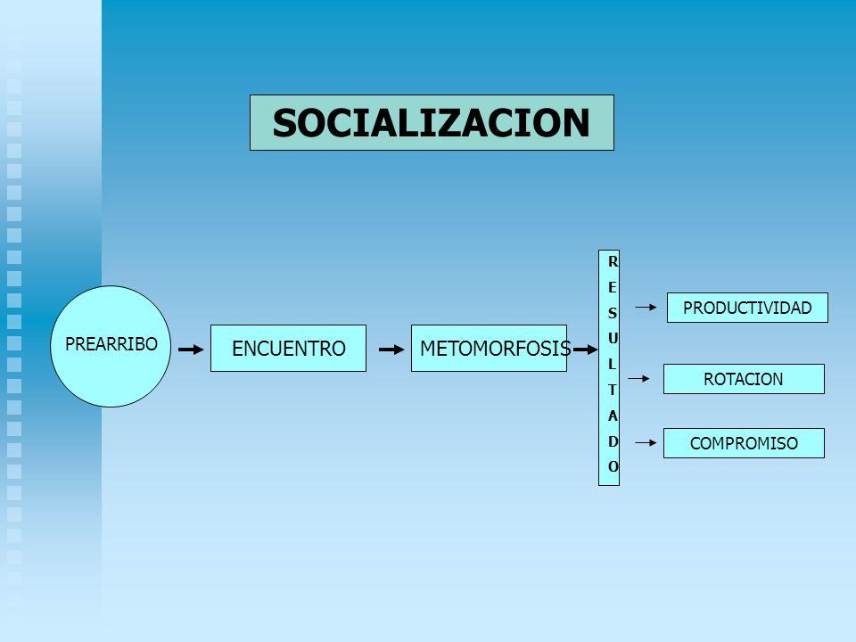 SOCIALIZACION ENCUENTRO PREARRIBO METOMORFOSIS RESULTADORESULTADO PRODUCTIVIDAD ROTACION COMPROMISO
