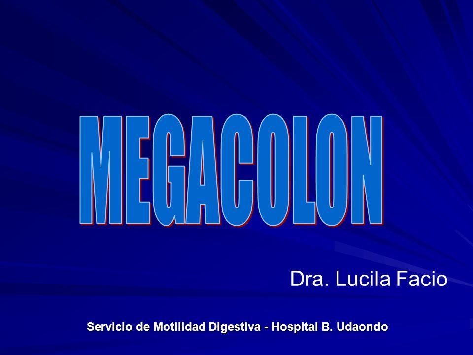 Aganglionosis congénita del tracto digestivo distal.