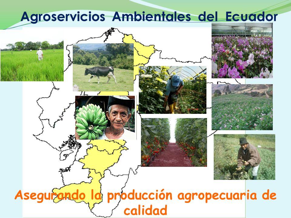Asegurando la producción agropecuaria de calidad Agroservicios Ambientales del Ecuador