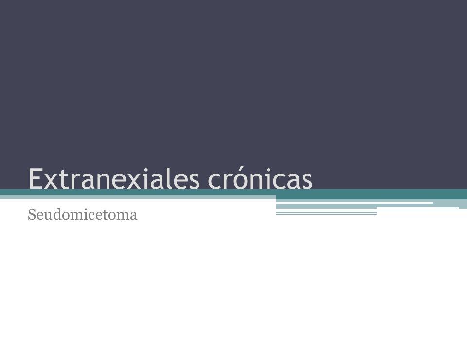 Extranexiales crónicas Seudomicetoma