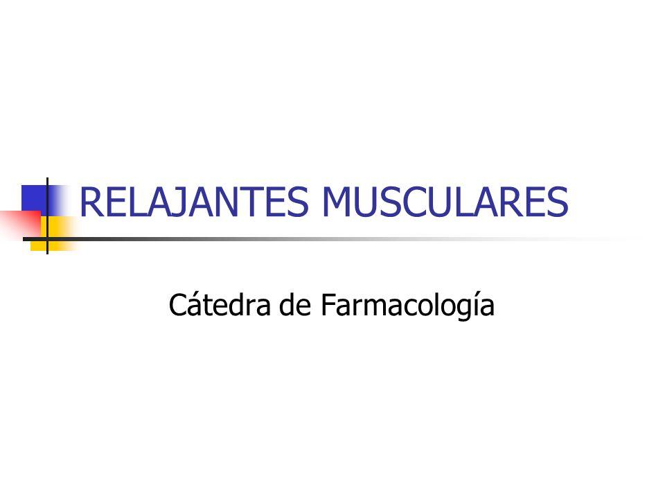 RELAJANTES MUSCULARES Cátedra de Farmacología