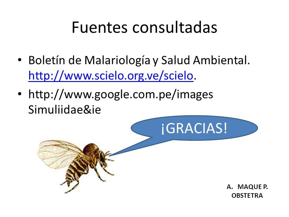 Fuentes consultadas Boletín de Malariología y Salud Ambiental. http://www.scielo.org.ve/scielo. http://www.scielo.org.ve/scielo http://www.google.com.