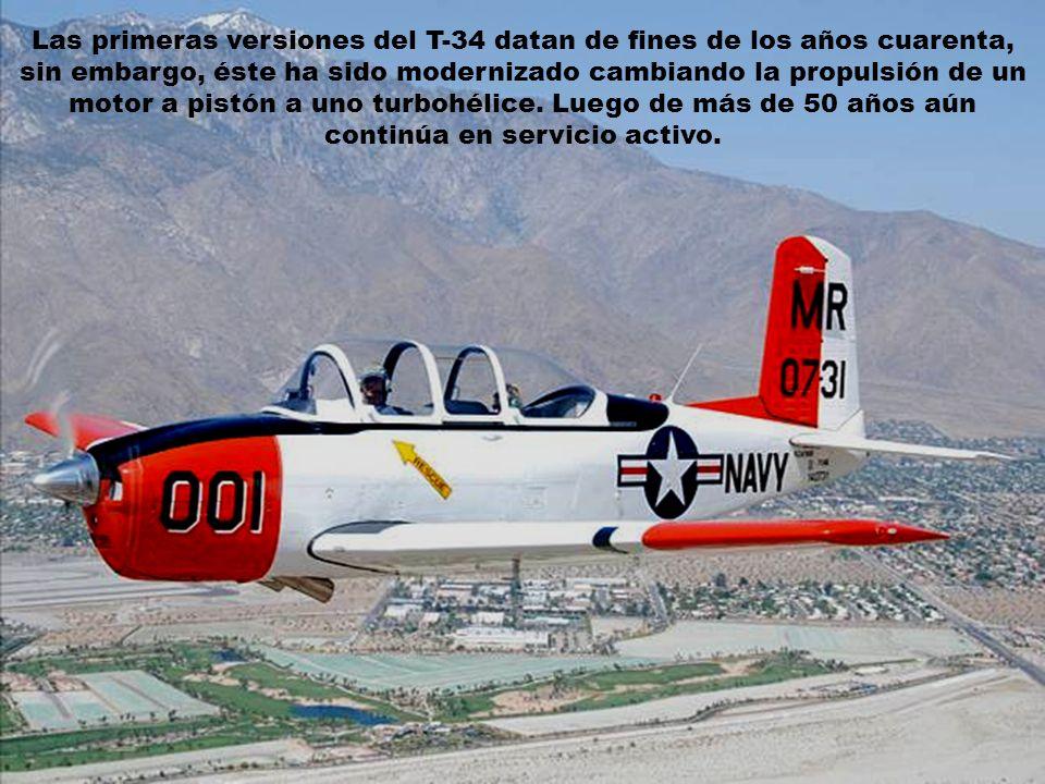 El T-34 Mentor es un entrenador militar básico monomotor, de propulsión a hélice derivado del Beechcraft 35 Bonanza.