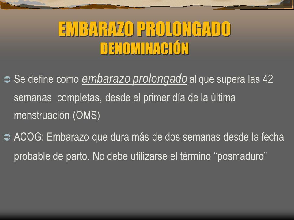 EMBARAZO PROLONGADO CAMBIOS FISIOLÓGICOS ASOCIADOS AL EP Cambios en el líquido amniótico.