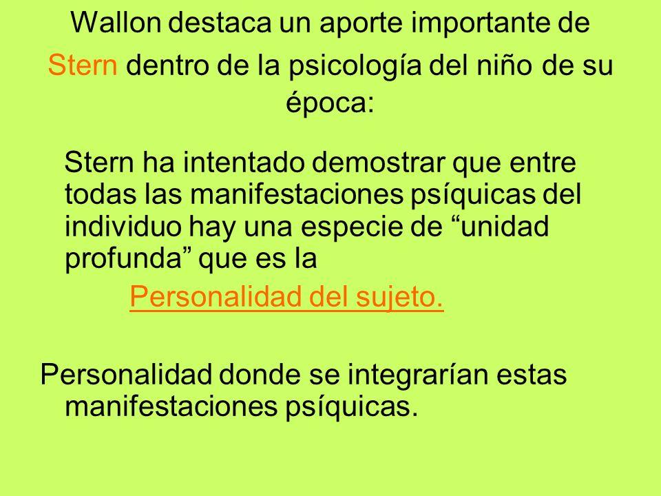Wallon Ya vimos como Wallon sostiene que la integración entre lo biológico y lo social se realiza en un centro integrador que es La persona