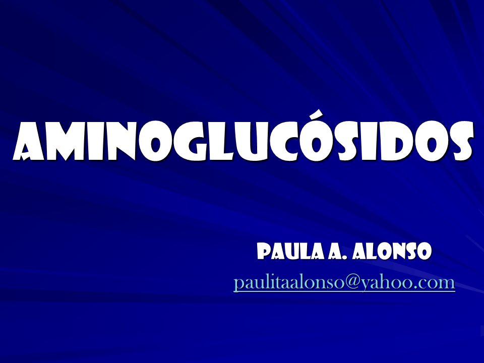 AMINOGLUCÓSIDOS Paula A. Alonso paulitaalonso@yahoo.com
