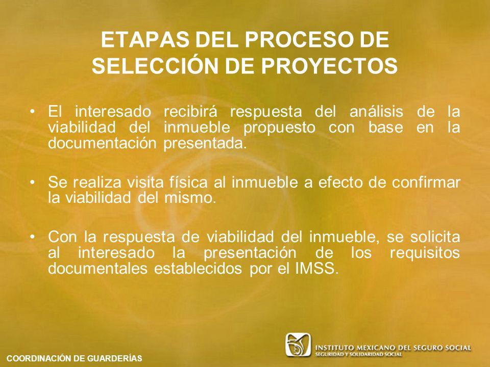 El interesado recibirá respuesta del análisis de la viabilidad del inmueble propuesto con base en la documentación presentada. Se realiza visita físic