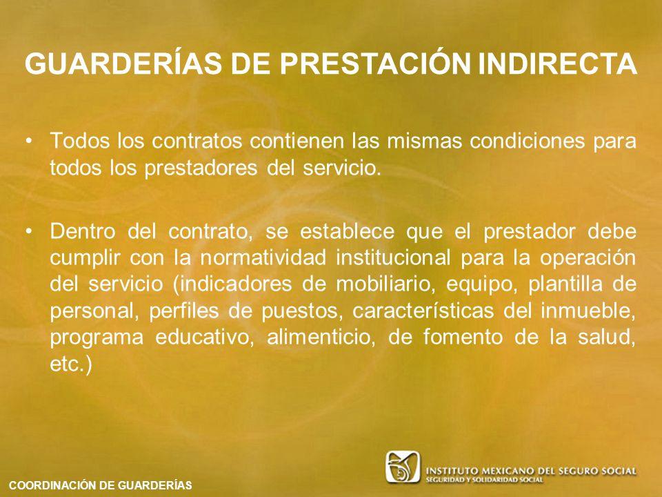 Todos los contratos contienen las mismas condiciones para todos los prestadores del servicio. Dentro del contrato, se establece que el prestador debe