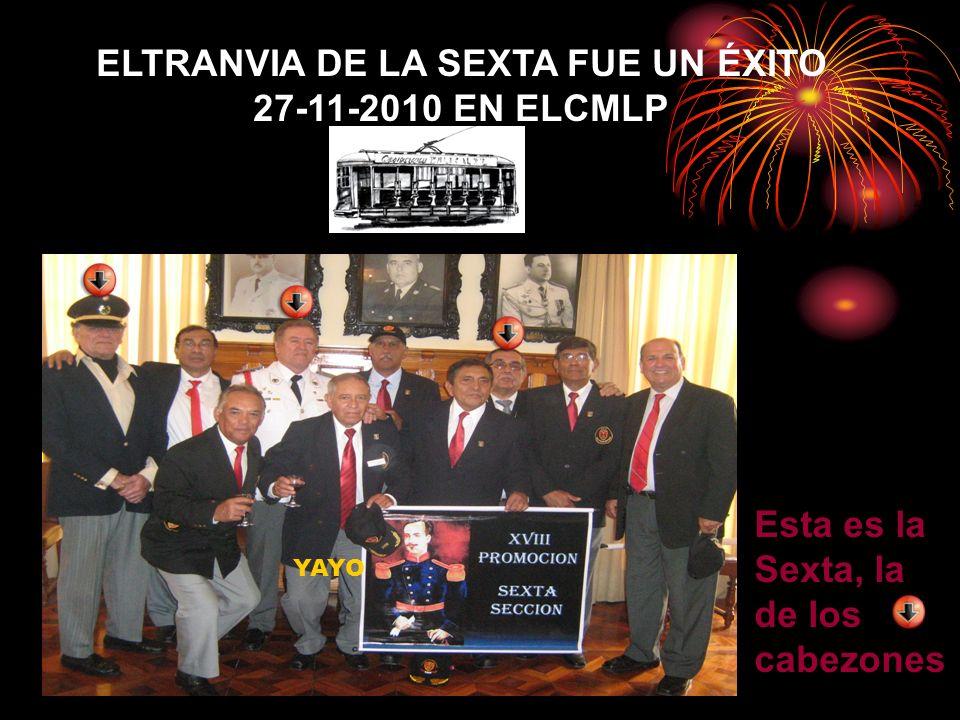 ELTRANVIA DE LA SEXTA FUE UN ÉXITO 27-11-2010 EN ELCMLP Esta es la Sexta, la de los cabezones YAYO