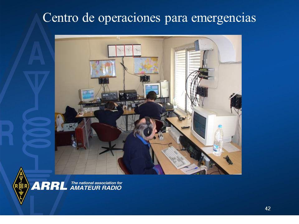 42 Centro de operaciones para emergencias