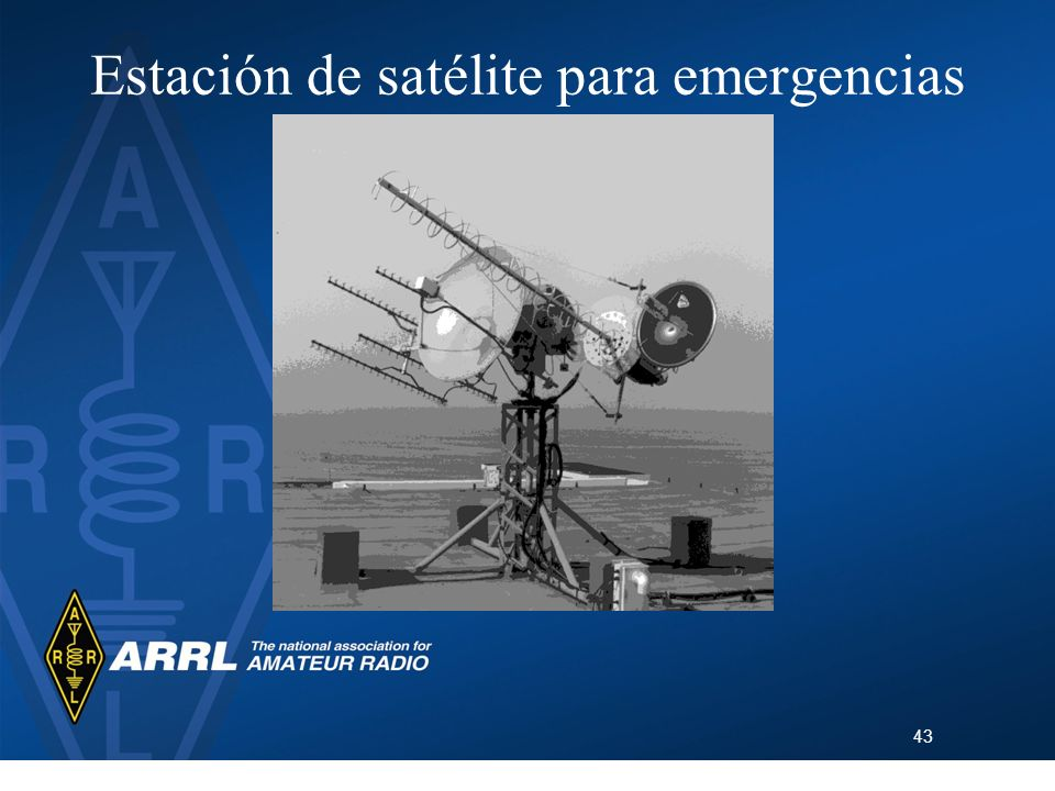 43 Estación de satélite para emergencias