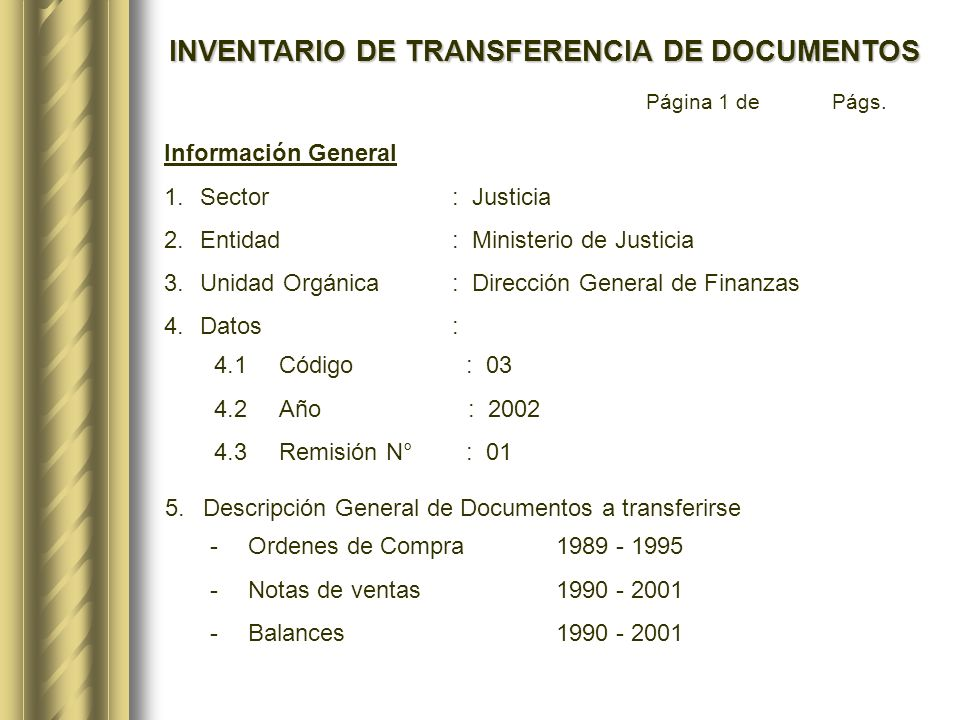 6.Metros lineales de documentos a transferirse: 160 ml.