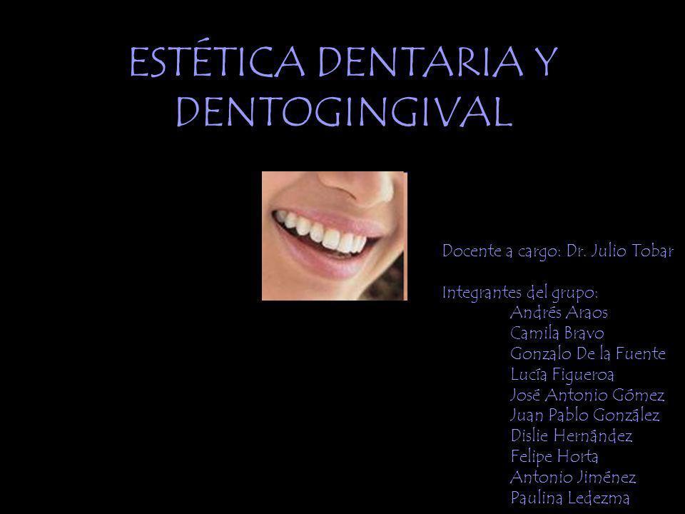 ESTÉTICA DENTARIA Y DENTOGINGIVAL Docente a cargo: Dr.