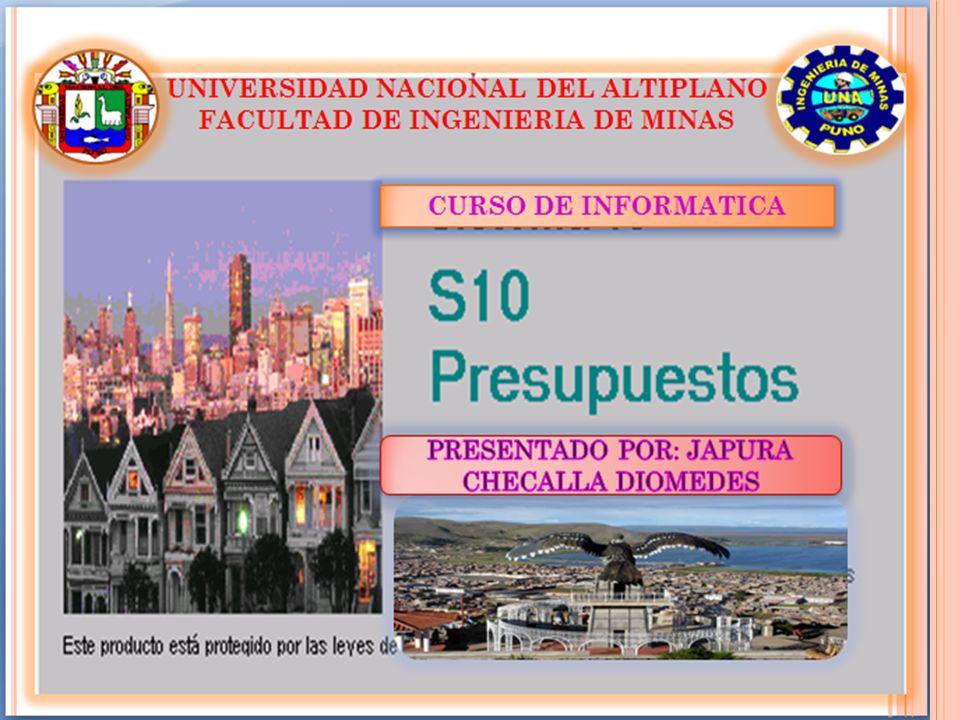 C REACIÓN DE S10 En 1986 un grupo de profesionales peruanos con experiencia en las ramas de la construcción, gestión empresarial y la informática crean Sistema 10 S.A.C.