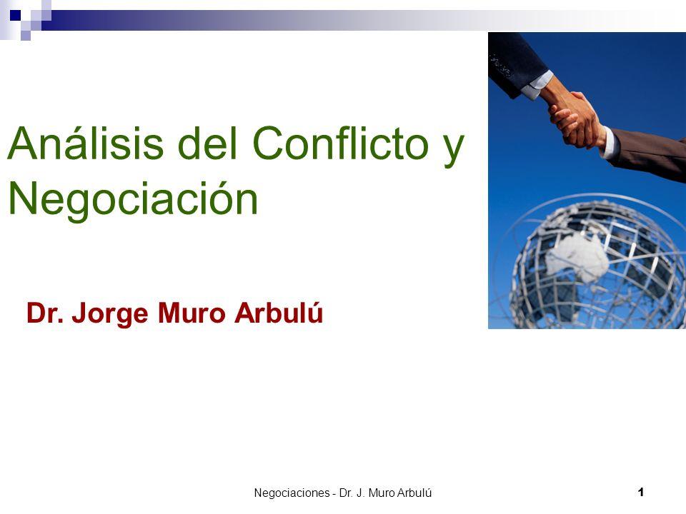 Negociaciones - Dr.J. Muro Arbulú 22 ¿COMO MEDIR EL EXITO.