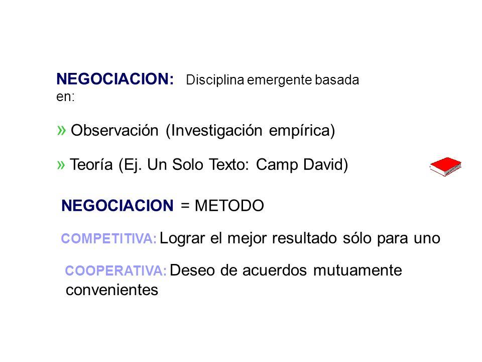 Negociaciones - Dr.J. Muro Arbulú 43 ORGANIZACIONES EXITOSAS: Consenso sobre...