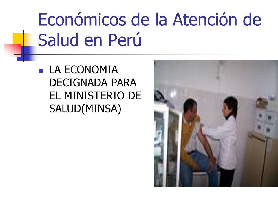 Económicos de la Atención de Salud en Perú LA ECONOMIA DECIGNADA PARA EL MINISTERIO DE SALUD(MINSA)