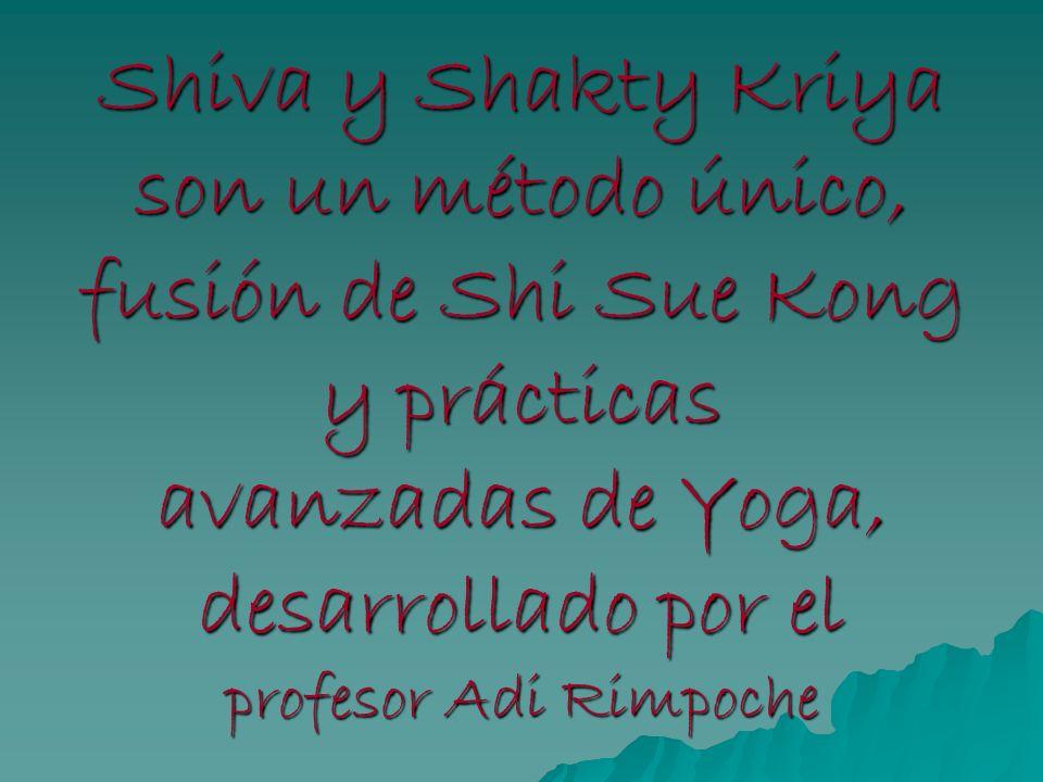 Shiva y Shakty Kriya son un método único, fusión de Shi Sue Kong y prácticas avanzadas de Yoga, desarrollado por el profesor Adi Rimpoche