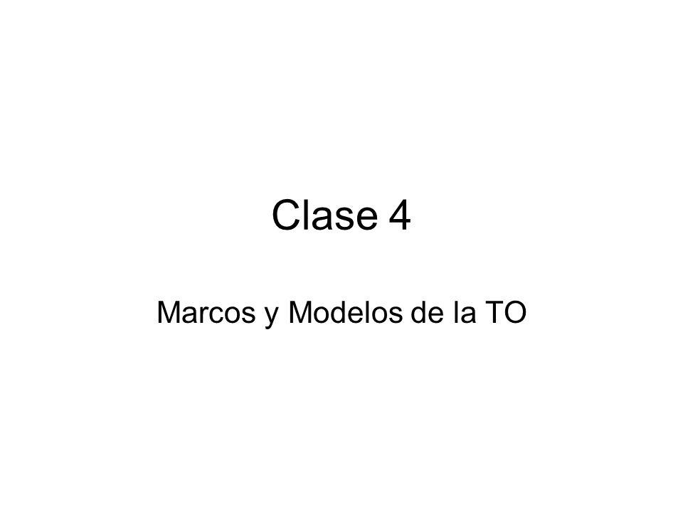 Clase 4 Marcos y Modelos de la TO