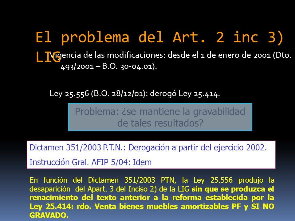 Vigencia de las modificaciones: desde el 1 de enero de 2001 (Dto.
