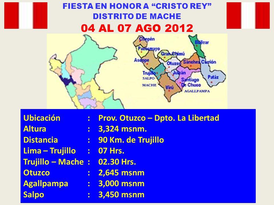Ubicación:Prov. Otuzco – Dpto. La Libertad Altura:3,324 msnm.