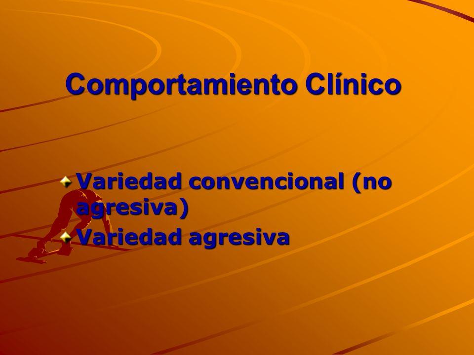 Comportamiento Clínico Variedad convencional (no agresiva) Variedad agresiva