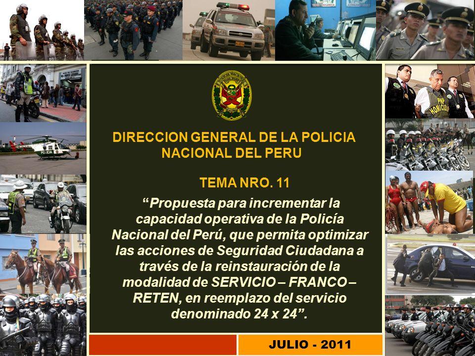 Propuesta para incrementar la capacidad operativa de la Policía Nacional del Perú, que permita optimizar las acciones de Seguridad Ciudadana a través