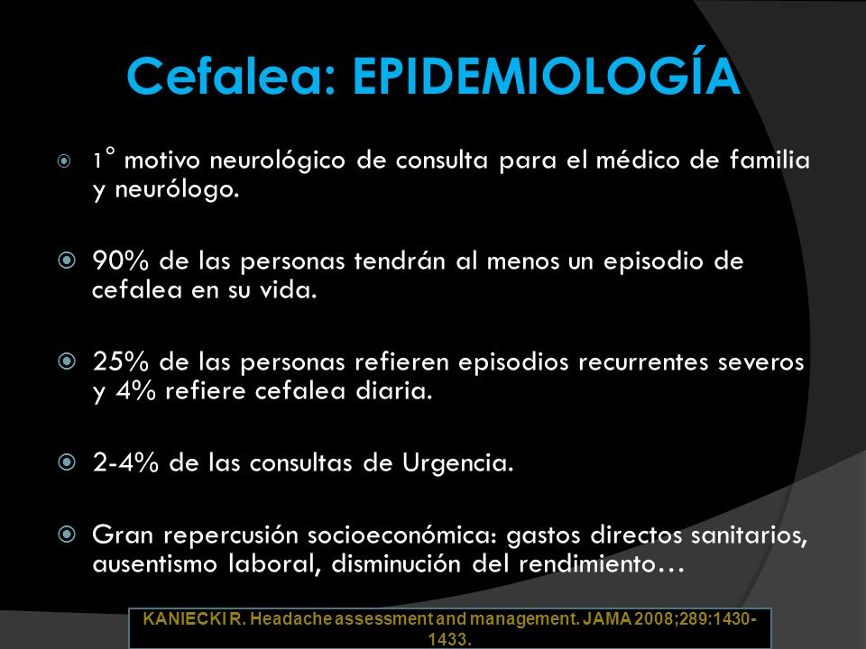 ICHD- II. Cephalalgia 2004; 24 (Suppl 1). ©International Headache Society. Cefalea: CLASIFICACIÓN