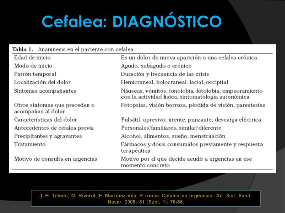 Marcelo E.Bigal, Richard B. Lipton. Differential diagnosis of primary headaches.