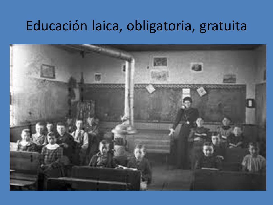 Educación laica, obligatoria, gratuita