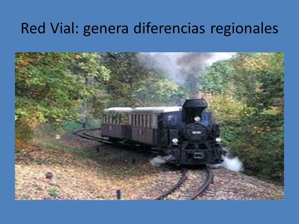 Red Vial: genera diferencias regionales