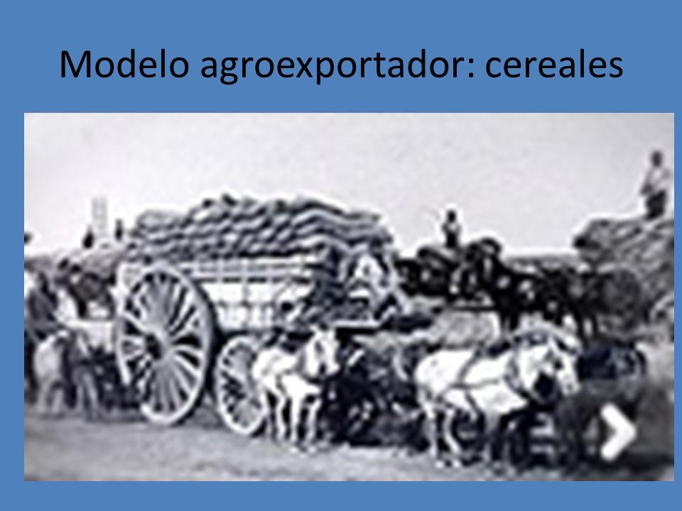 Modelo agroexportador: cereales