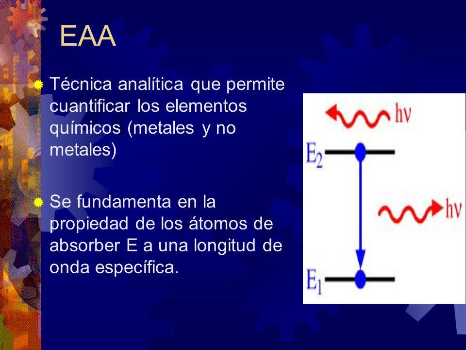 Las muestras se vaporizan y se convierten en átomos libres por atomización (etapa crítica ).