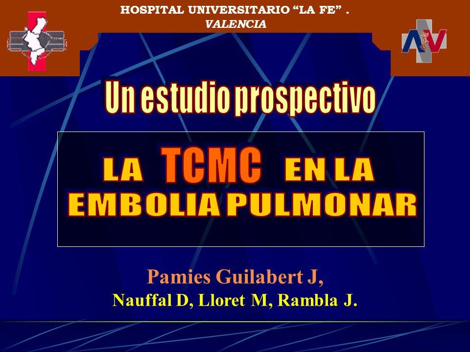 Pamies Guilabert J, Nauffal D, Lloret M, Rambla J. HOSPITAL UNIVERSITARIO LA FE. VALENCIA