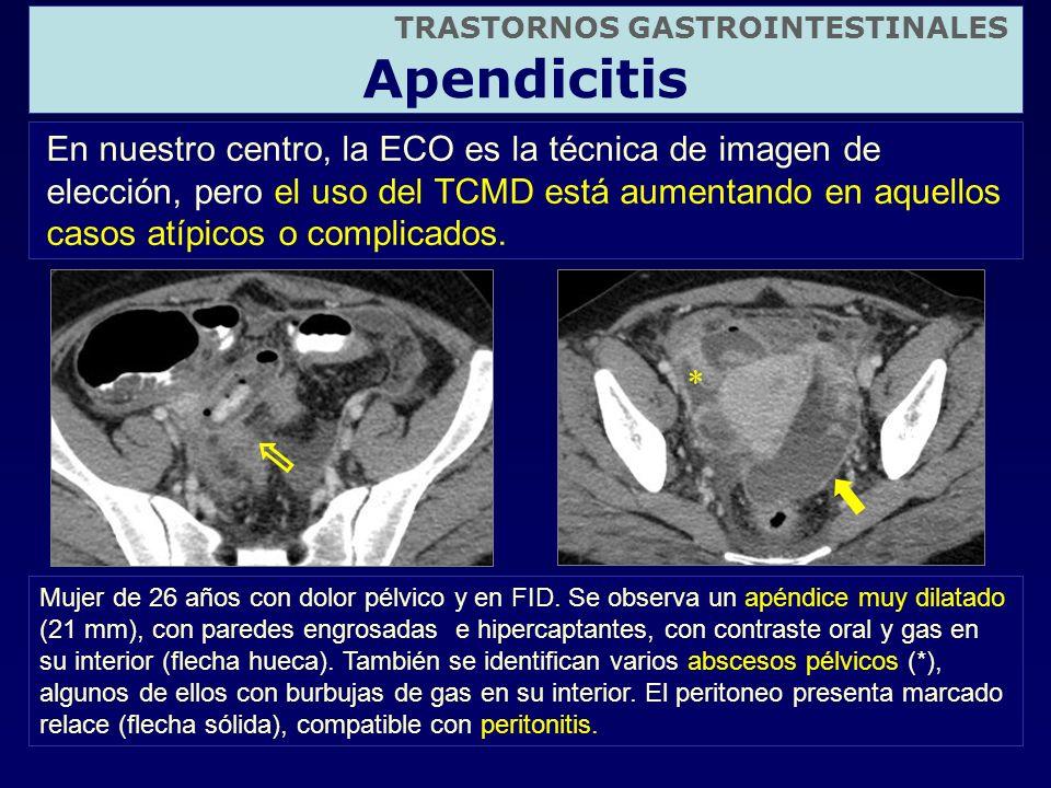 En nuestro centro, la ECO es la técnica de imagen de elección, pero el uso del TCMD está aumentando en aquellos casos atípicos o complicados. TRASTORN