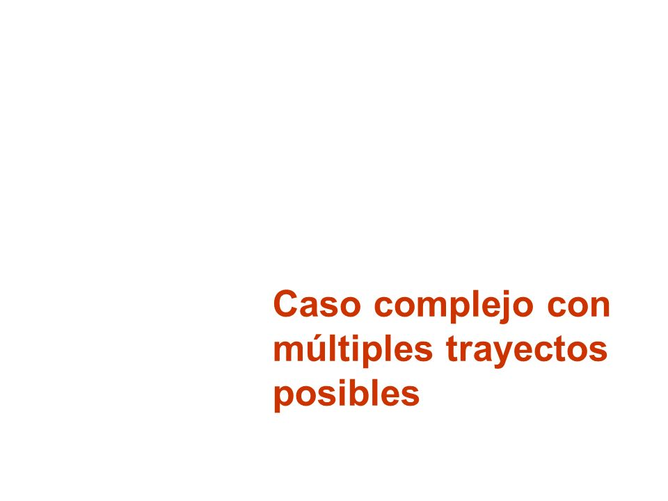 Caso complejo con múltiples trayectos posibles