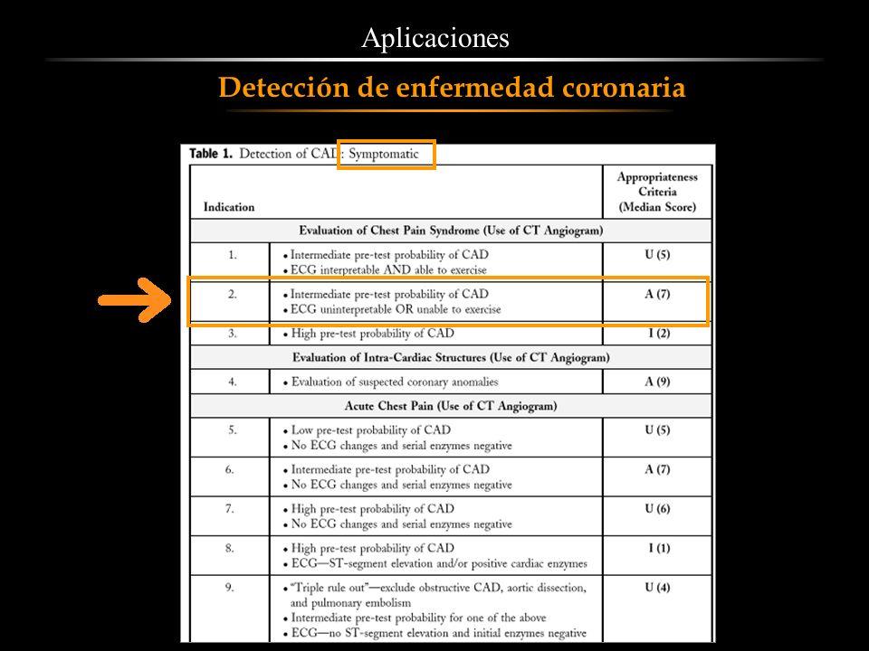 Aplicaciones Detección de enfermedad coronaria