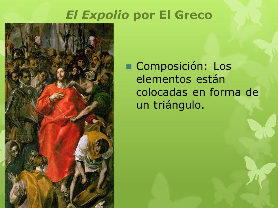 El Expolio por El Greco Perspectiva: En el primer plano vemos a Jesus y a unos trabajadores en detalle.