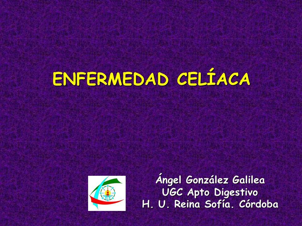 ENFERMEDAD CELÍACA Ángel González Galilea UGC Apto Digestivo H. U. Reina Sofía. Córdoba
