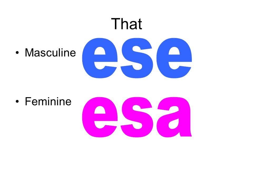 That Masculine Feminine
