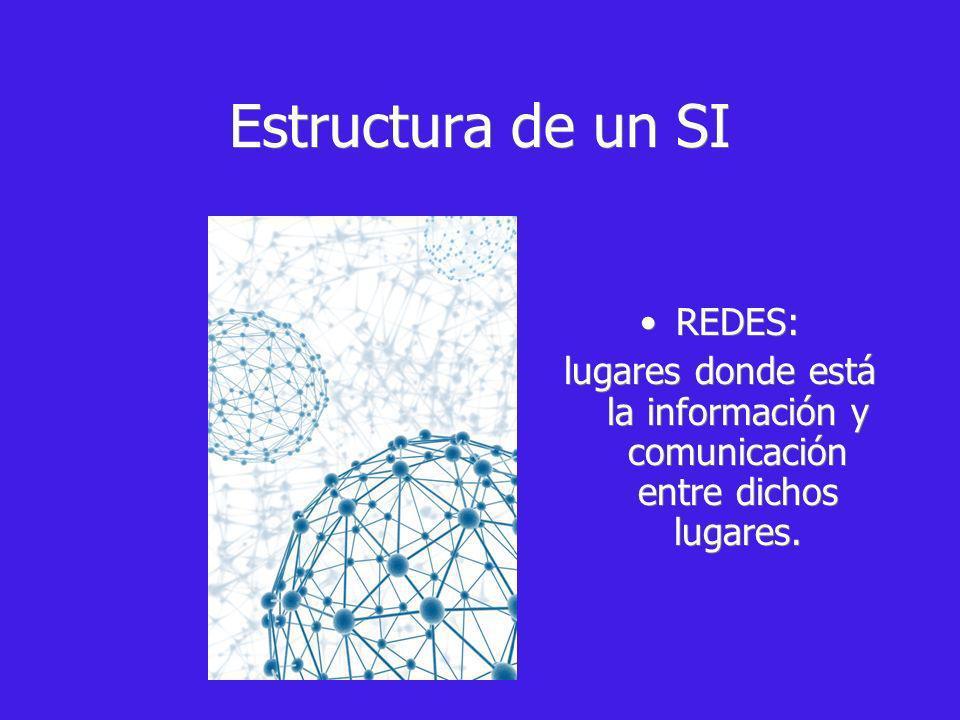 REDES: lugares donde está la información y comunicación entre dichos lugares.