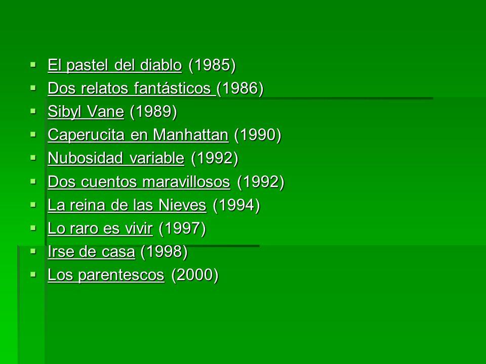 El pastel del diablo (1985) El pastel del diablo (1985) Dos relatos fantásticos (1986) Dos relatos fantásticos (1986) Sibyl Vane (1989) Sibyl Vane (19